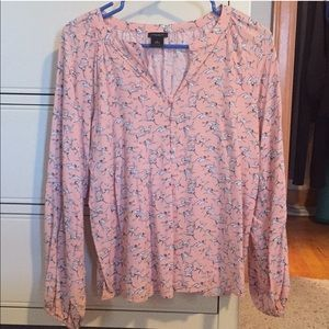 Long Sleeve Ann Taylor Factory Blouse Size Small